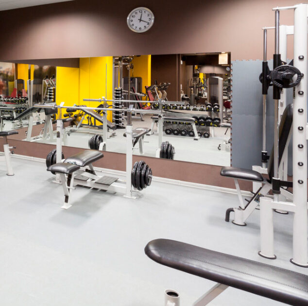 Fitness centre weights area
